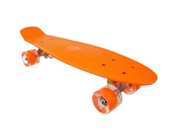Deskorolka Fiszka Pomarańczowa Koła Led