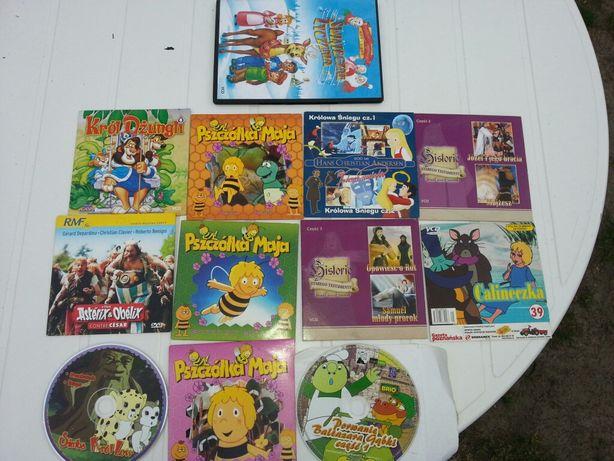 Bajki na dvd Pszczółka Maja Andersen i inne 12 sztuk