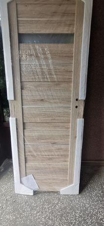 Drzwi wewnętrzne modułowe invado capena inserto dąb naturo 70 lewe