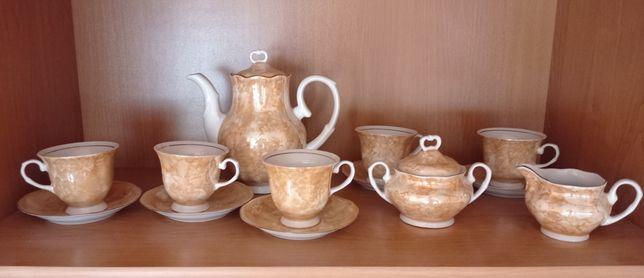 Zestaw kawowy porcelana Karolina Alba PRL