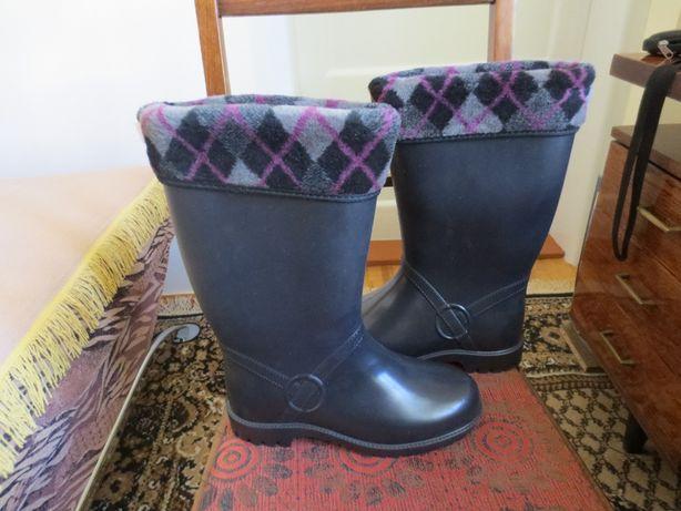 Високоякісні жіночі гумові утеплені чоботи
