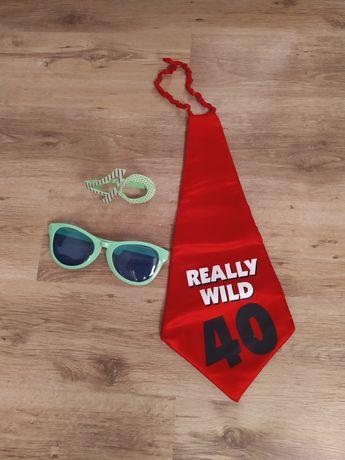 Krawat i okulary na 40 urodziny