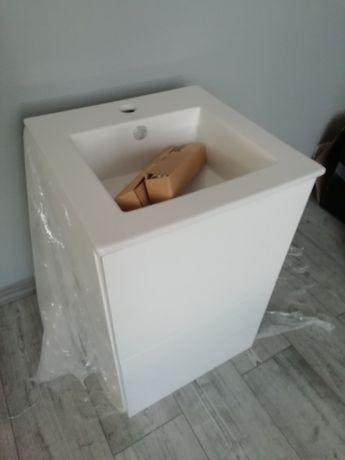 Umywalka z szafka wisząca