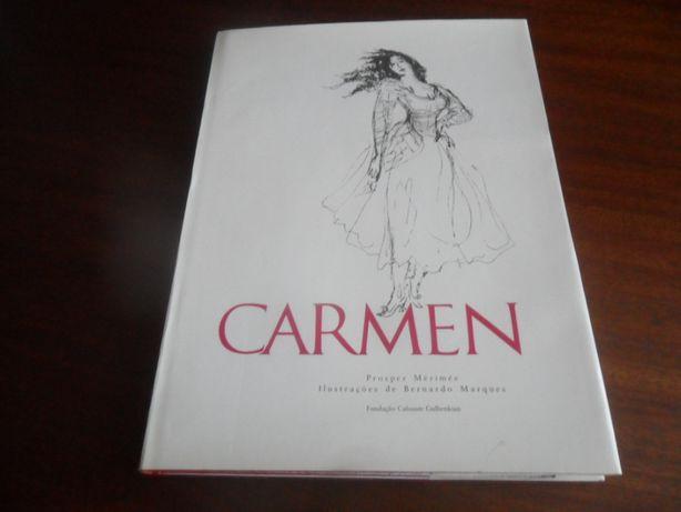 """""""Carmen"""" de Prosper Merimée e Ilustrações de Bernardo Marques"""