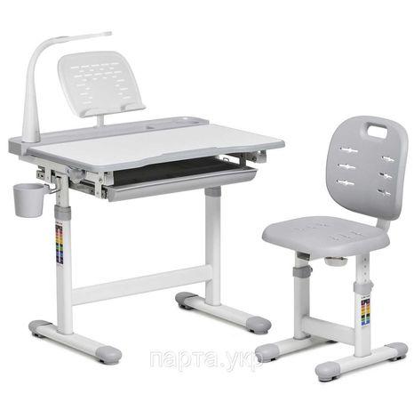 Парта стол, стул для школьника FunDesk. Лампа и подставка. Доставка 0
