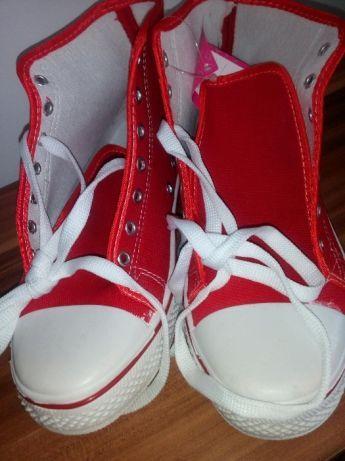 trampki czerwone NOWE z białym buty sportowe