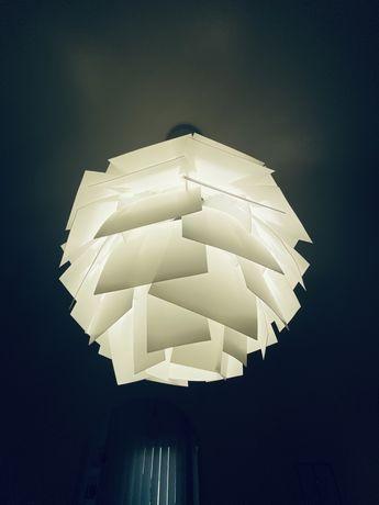Lampa sufitowa biala trzy sztuki