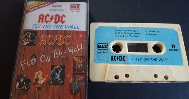AC/DC ‎– Fly On The Wall, 1990 KASETA MAGNETOFONOWA , max