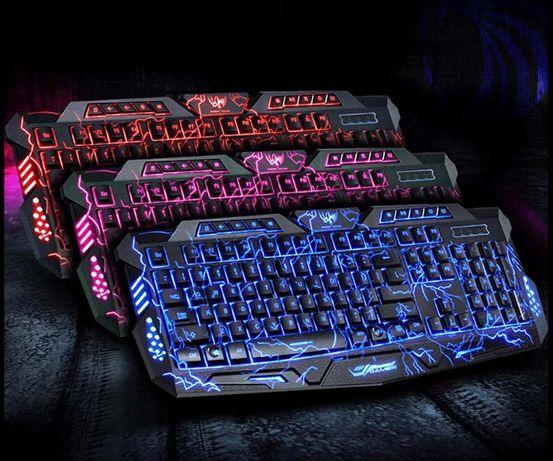 НОВЫЕ! Atlanfa M200L клавиатура с подсветкой молнии геймер компьютер