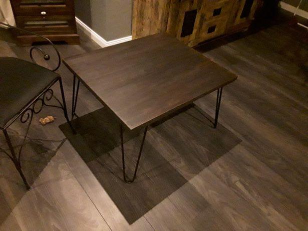 Stół loft stolik loftowy ława dębowa metalowe nogi indriustrial