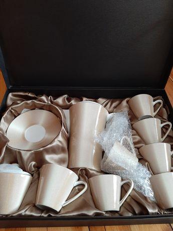 Porcelana, zestaw kawowy Veroni, nowy