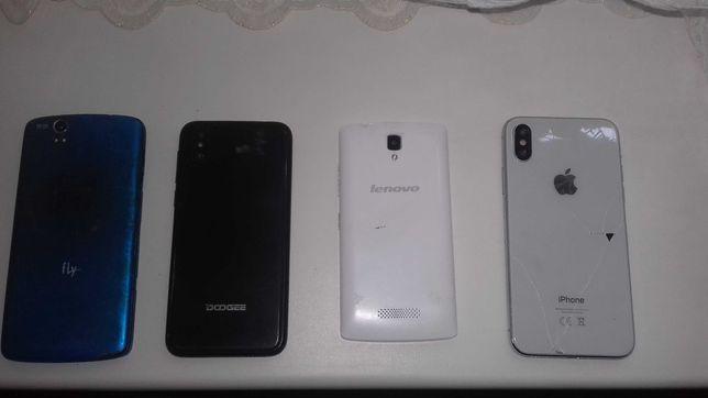 Чотири телефони  на запчасті