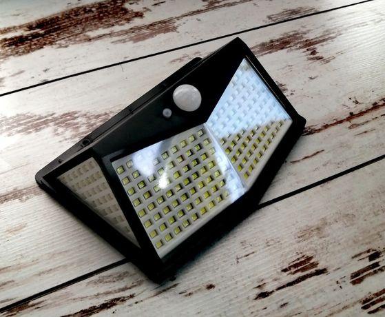 Lampa 212 LED Solarna Ogrodowa Wodoszczelna Czujnik Zmierzchu i Ruchu