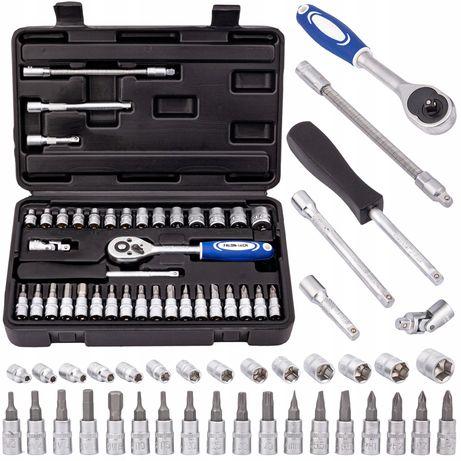 Zestaw kluczy nasadowych klucze nasadowe torx 38 elementów (KLU118)
