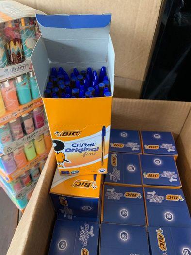 Canetas BIC azul