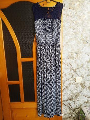 Сарафан плаття платье М 44 46 гипюр масло длинное довге