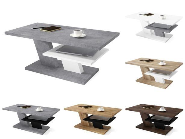 CLIFF MAT 7 kolorów (biały/szary/czarny) ŁAWA stolik Z PÓŁKĄ Mazzoni