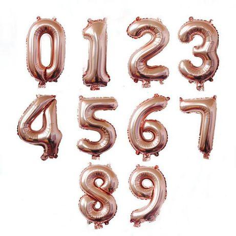 Цифры фольгированные на день рождения 80см (фотозона, шары, декор)