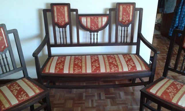 Canapé do Séc XIX, em madeira exótica
