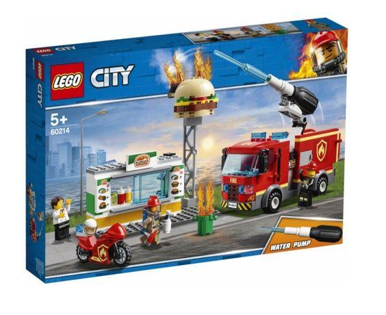 Конструктор LEGO City Пожежа в бургер-кафе 327 деталей (60214)
