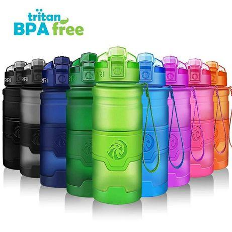 Бутылка спортивная для воды Шейкер эко спортивная фляга 0.5л 0.7л 1л
