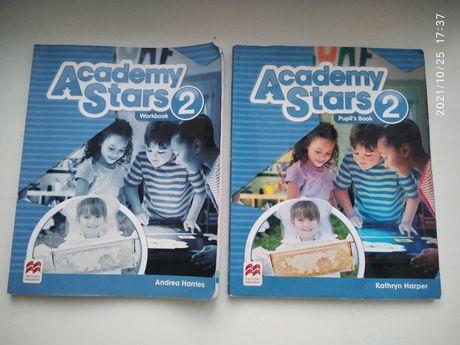 Книга учебник Academy stars 2 pupils book workbook