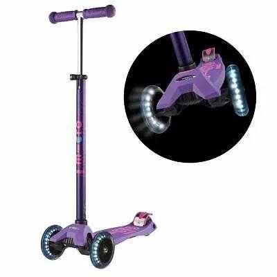 Самокат Maxi Micro Deluxe Purple LED (со светящимися колесами)
