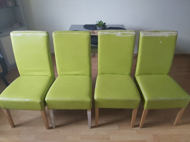Oddam 4 krzesła Eko skóra
