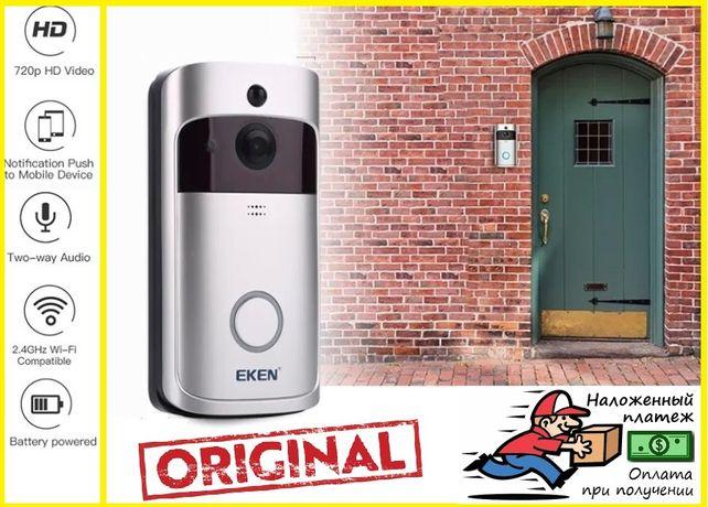 Видеодомофон умный дверной звонок wifi домофон влагозащита вайфай