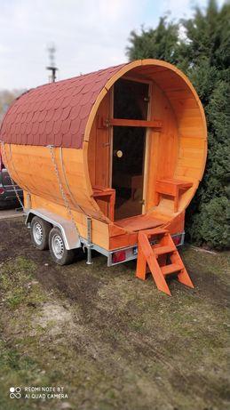 Sauna mobilna opalana drewnem do wynajecia