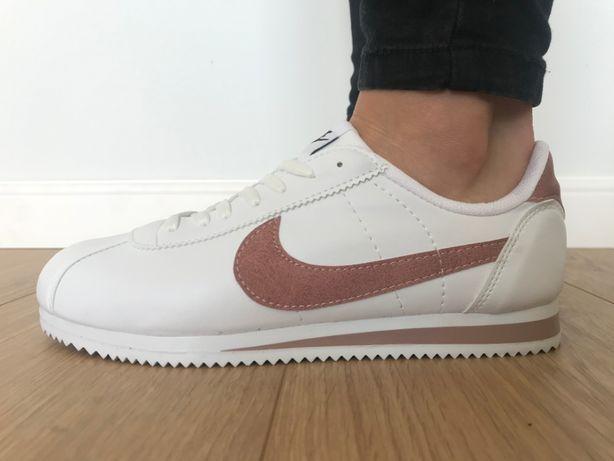 Nike Cortez/ Rozmiar 37 Białe - Różowe *WYPRZEDAŻ*