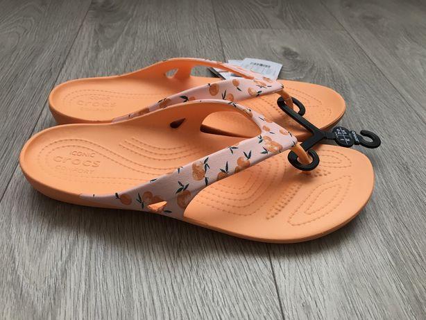 Crocs kadee II flip peach W11 в'єтнамки крокс вьетнамки