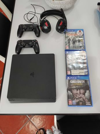 PS4 SLIM 1 TB impecável