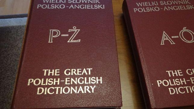 Wielki Słownik Polsko -Angielski 2 tomy zamienię na Kuchnie Polską.