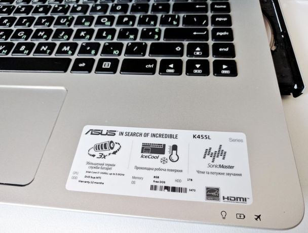 Ноутбук ASUS K455L (Intel i7, 8GB ram. 1Tb hdd)