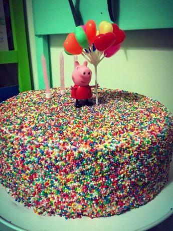 Na tort ozdoba roczek balony urodziny