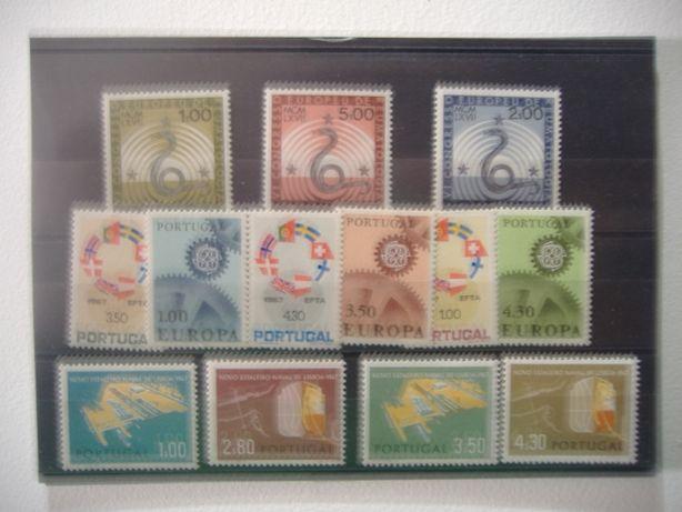 Selos Portugal 1967 - Ano completo MNH - Novos sem marca de charneira