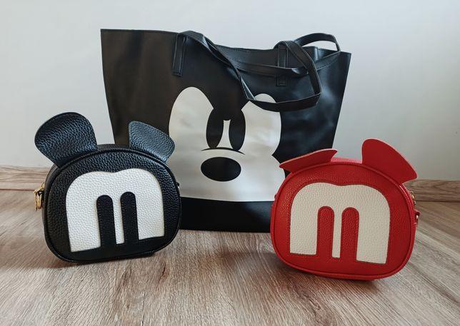 Czarna torba myszka Miki duża Mickey