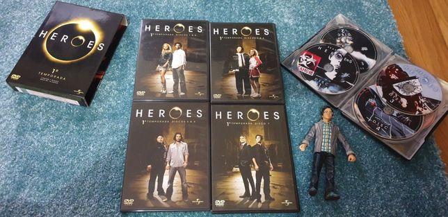DVD Heroes 1 e 2 temporada em caixa de colecionador