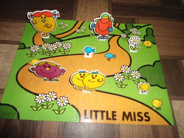 прочные крупные пазлы 3 Д Маленькая мисс Little miss (45 шт)