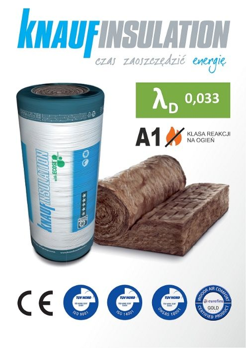 Wełna Mineralna KNAUF unifit 032, 033 035, 039 5cm 10cm 15cm 18cm 20cm