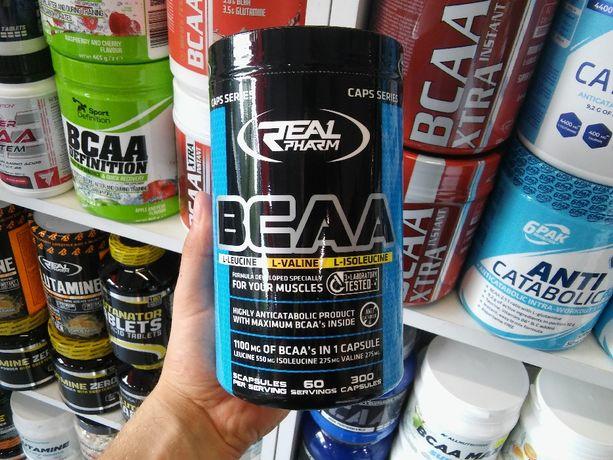 Real Pharm BCAA 300kapsułek, Regeneracja, Odżywki, Aminokwasy