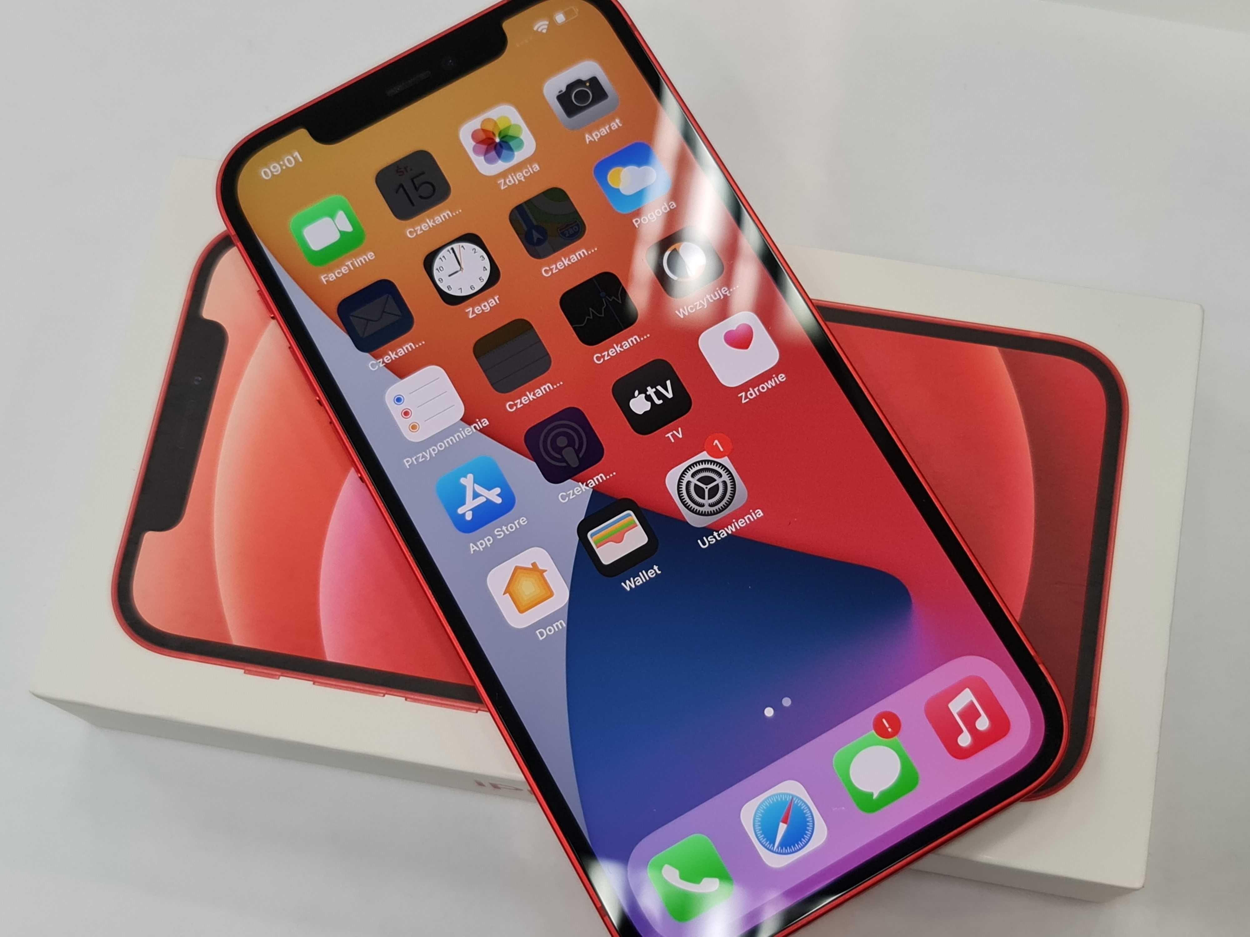 24.02.21! Iphone 12 64GB/ Red/ Czerwony/ Stan BDB/ Gwarancja Apple!