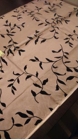 Nakładka tafta miodowa zamszowe liście 57x110 bieżnik-lamówka na stół