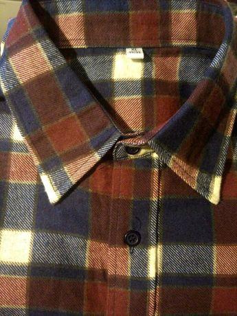 Рубашка мужская,фланель,43-44ворот.