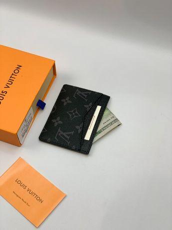 Мужской кардхолдер кошелек бумажник визитница LV Louis Vuitton k297