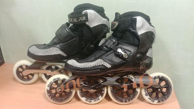 Роликовые коньки для скоростного катания К2 Radical PRO (р. 43,5)