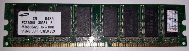 Продам память для ПК DDR PC3200 NCP 256MB/SAMSUNG 512MB