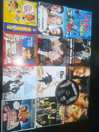Zestaw 13 filmów DVD w języku angielskim i duńskim