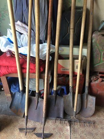 Лопаты, грабли, тяпки